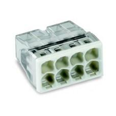 wago compact steekklem 8 x 0,5-2,5mm²  transparant grijs 50 stuks