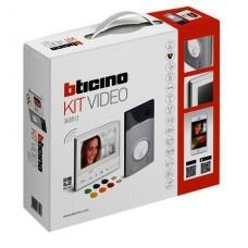 BTICINO - AVT - Videokit kleur + Geheugen 1 drukknop Linea 3000 + Classe 300 X13 WiFi+badges
