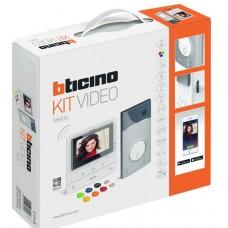 BTICINO - AVT - Videokit kleur 1 drukknop Linea 3000 + Classe 300 X16E WiFi+badges