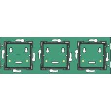Home Control 3-voudige muurprint horizontaal: centerafstand 71mm