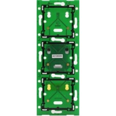 Home Control 3-voudige muurprint verticaal: centerafstand 60mm