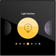 Digital black, geconnecteerd personaliseerbaar bedieningsscherm, 230V (traditionele bekabeling)
