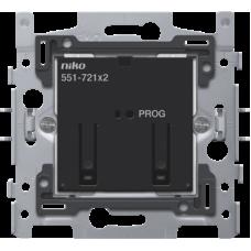 Sokkel voor geconnecteerde tweevoudige schakelaar, 2x10A (totaal max 16A) voor Niko Home Control (traditionele bekabeling)