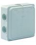 FLEX-O-BOX JUNIOR - AFTAKDOOS 2.5MM² LEDIG 24 stuks in grijze draagmand