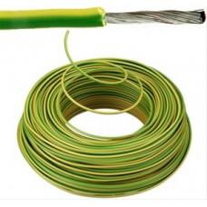 Flexibele installatiedraad VOBsT (H07V-K st)   vertind   1,5 mm²  groen/geel 100 meter