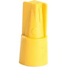 lasdop schroefop capaciteit 1,5-4,0mm²  geel 100 stuks