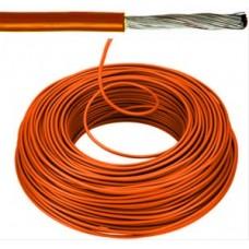 Flexibele installatiedraad VOBsT (H07V-K st)   oranje 1,5 mm²  wit 100 meter
