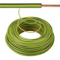 Vob H07V-U Eca installatiedraad 1,5mm² - groen/geel 100 meter