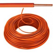 Vob H07V-U Eca installatiedraad 1,5mm² oranje 100 meter