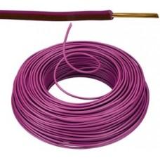 Vob H07V-U Eca installatiedraad 1,5mm²  violet 100 meter