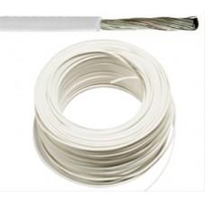 Flexibele installatiedraad VOBsT (H07V-K st)   vertind   1,5 mm²  wit 100 meter