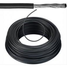 Flexibele installatiedraad VOBsT (H07V-K st)   vertind   1,5 mm²  zwart 100 meter
